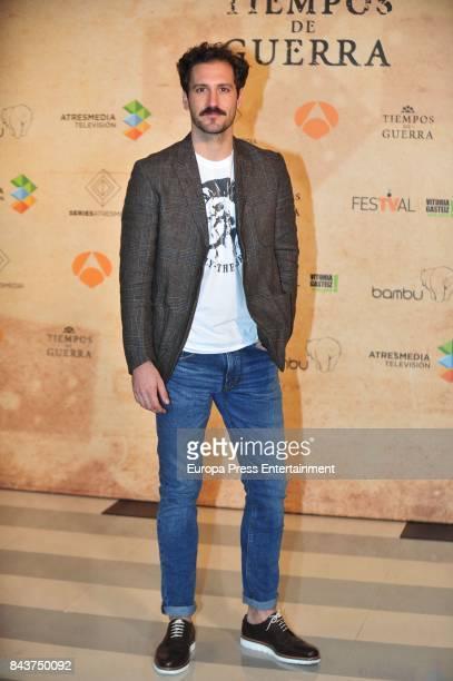 Spanish actor Alex Gadea attends 'Tiempo de Guerra' photocall at the PAlacio de Congresos during the FesTVal 2017 on September 6 2017 in...