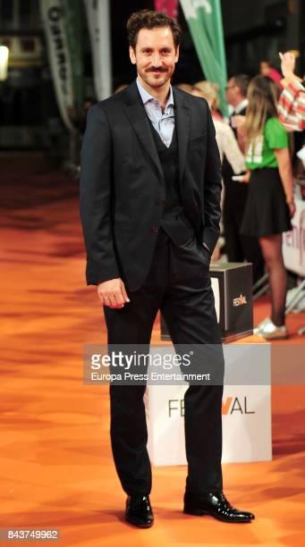 Spanish actor Alex Gadea attends 'Tiempo de Guerra' premier at the Principal Teather during the FesTVal 2017 on September 6 2017 in VitoriaGasteiz...