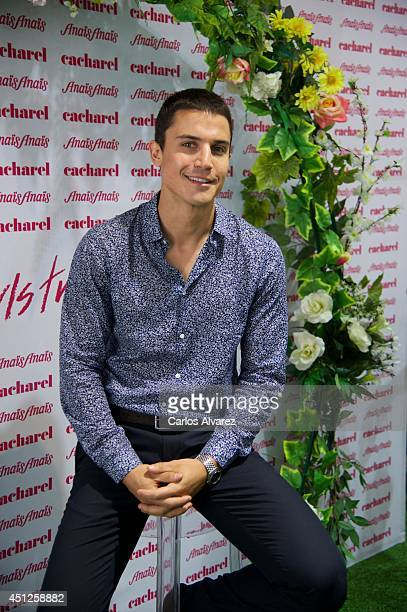 Spanish actor Alex Gonzalez attends Cacharel fans event at Sephora store on June 26 2014 in Madrid Spain