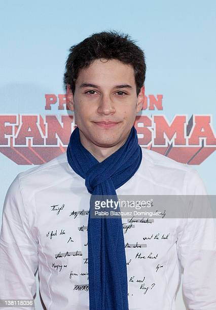 Spanish actor Alex Martinez attends 'Promocion Fantasma' premiere at Capitol Cinema on February 2 2012 in Madrid Spain