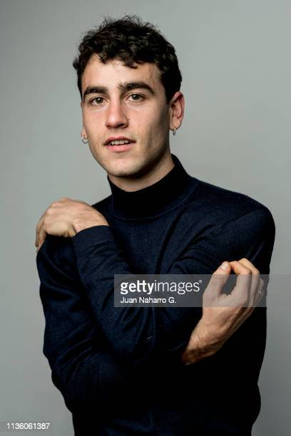 Spanish actor Alex Monner poses for a portrait session at Teatro Cervantes during 22nd Spanish Film Festival of Malaga on March 15 2019 in Malaga...