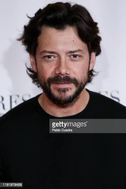 Spanish actor Alvaro Morte attends Pintores y Reyes del Prado premiere at Verdi cinema on December 04 2019 in Madrid Spain