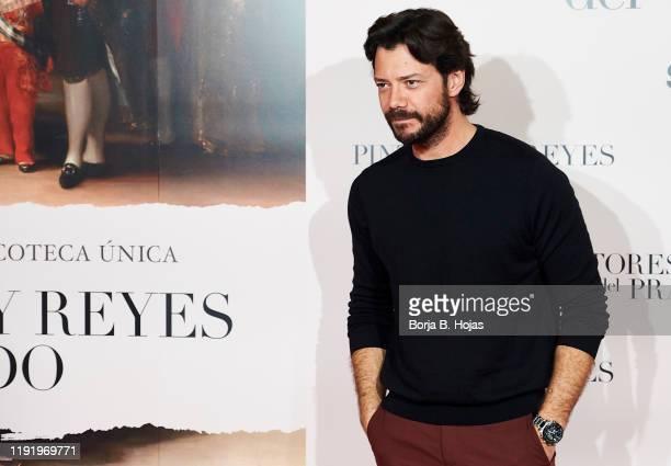 Spanish actor Alvaro Morte attends premiere of 'Pintores y Reyes del Prado' on December 04 2019 in Madrid Spain