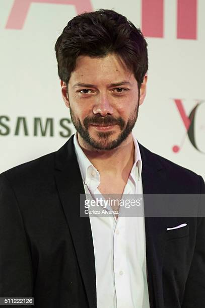 Spanish actor Alvaro Morte attends the Yo Dona Party MercedesBenz Madrid Fashion Week Autumn/Winter 2016/2017 at the NH Eurobuilding Hotel on...