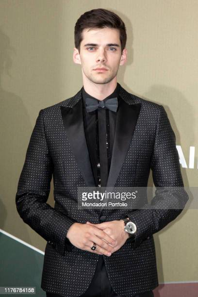 Spanish actor Alvaro Rico guest at the Red Carpet of the Amfar Gala on the Milan Stock Exchange Milan September 21th 2019