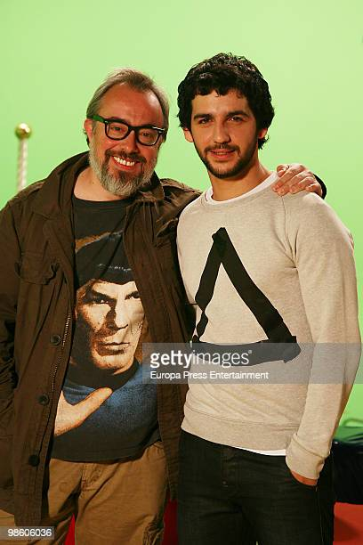 Spanish actor and singer Fran Perea and film maker Alex de la Iglesia pose for a photo session on April 22 2010 in Madrid Spain
