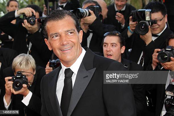 """Spanish actor Antonio Banderas arrives for the screening of """"The Paperboy"""" presented in competition at the 65th Cannes film festival on May 24, 2012..."""