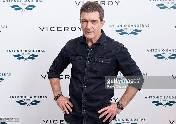 Spanish actor Antonio Banderas presents the new Viceroy collection on November 18 2016 in Madrid Spain