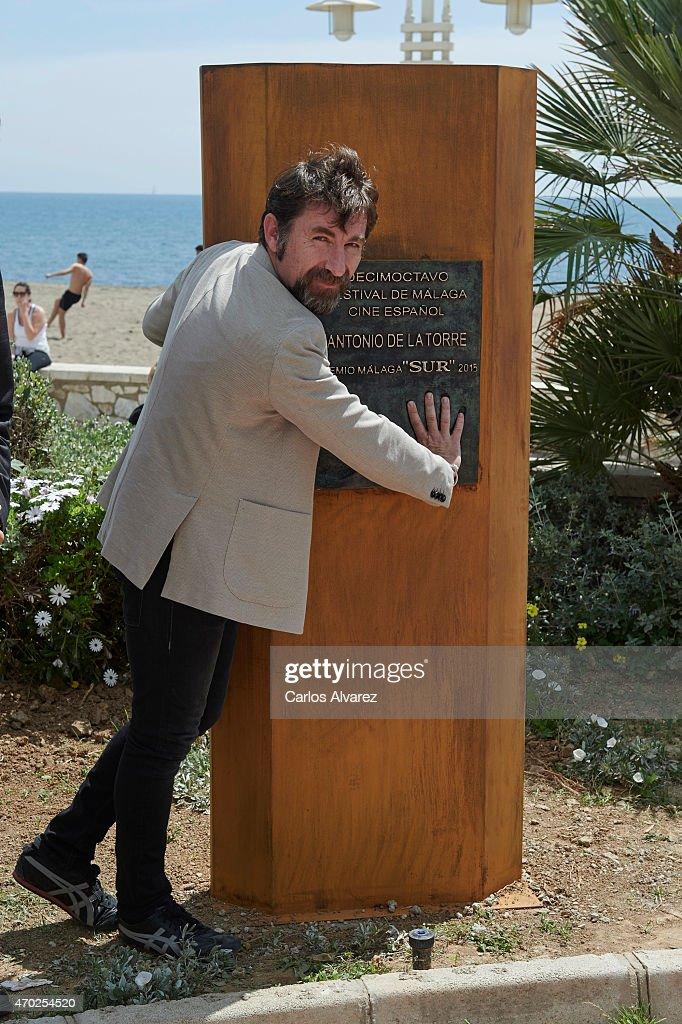 Spanish actor Antonio de la Torre receives the 'Malaga Sur' award 2015 during the 18th Malaga Film Festival 2015 on April 18, 2015 in Malaga, Spain.