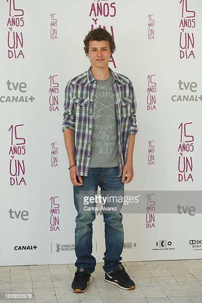 Spanish actor Aron Piper attends the Quince Anos Y Un Dia photocall at the Intercontinental Hotel on June 5 2013 in Madrid Spain