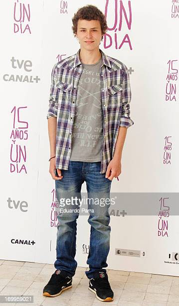 Spanish actor Aron Piper attends the 'Quince Anos Y Un Dia' photocall at the Intercontinental Hotel on June 5 2013 in Madrid Spain