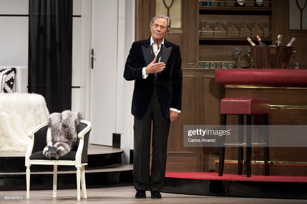 Spanish actor Arturo Fernandez celebrates his 89th Birthday on stage during the 'Alta Seduccion' Theater play at the Amaya Theater on February 21, 2018 in Madrid, Spain.