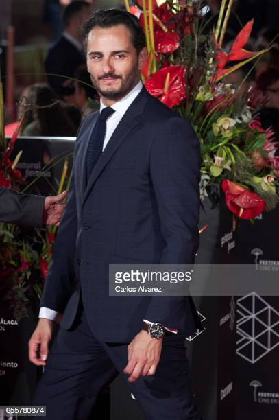 Spanish actor Asier Etxeandia attends the 'No Se Decir Adios' premiere during the 20th Malaga Film Festival 2017 Day 4 at the Cervantes Theater on...