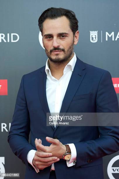 Spanish actor Asier Etxeandia attends the 'Platino Awards 2017' presentation at the Madrid City Hall on April 4 2017 in Madrid Spain