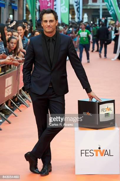Spanish actor Asier Etxeandia attends 'Velvet Colecction' premiere at the Principal Teather during the FesTVal 2017 on September 5 2017 in...