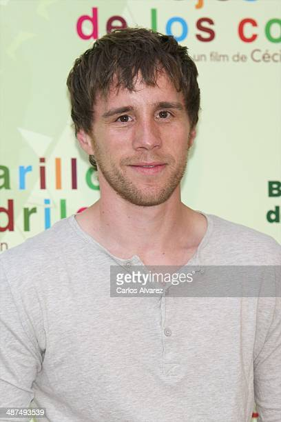 Spanish actor Bernabe Fernandez attends the Los Ojos Amarillos de los cocdrilos premiere at the Academia de Cine on April 30 2014 in Madrid Spain