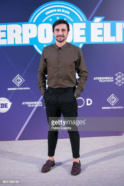 Spanish actor Canco Rodriguez attends the 'Cuerpo De Elite' photocall at ME Reina Victoria Hotel on January 12 2018 in Madrid Spain