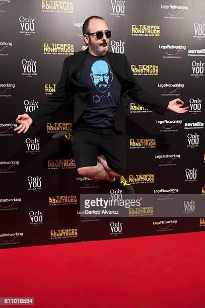 Spanish actor Carlos Areces attends 'El Tiempo De Los Monstruos' premiere at Palacio de la Prensa cinema on September 28 2016 in Madrid Spain