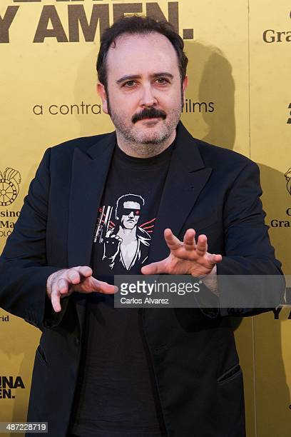 Spanish actor Carlos Areces attends the 'Carmina y Amen' premiere at the Callao cinema on April 28 2014 in Madrid Spain