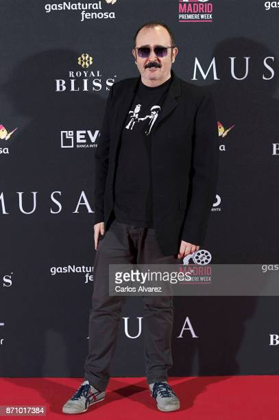 Spanish actor Carlos Areces attends the 'Musa' premiere at the Callao cinema on November 6 2017 in Madrid Spain