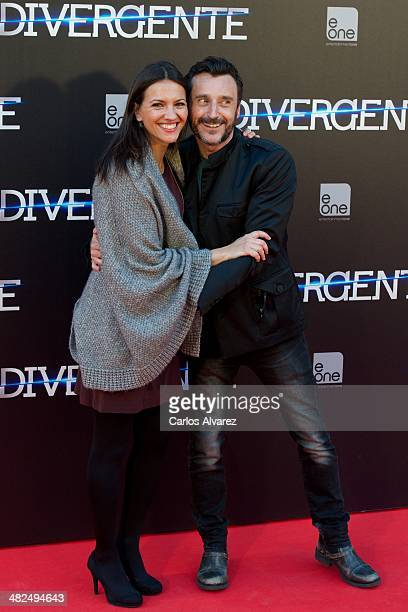 Spanish actor Carlos Chamarro and actress Ana Ruiz attend the Divergent premiere at the Callao cinema on April 3 2014 in Madrid Spain