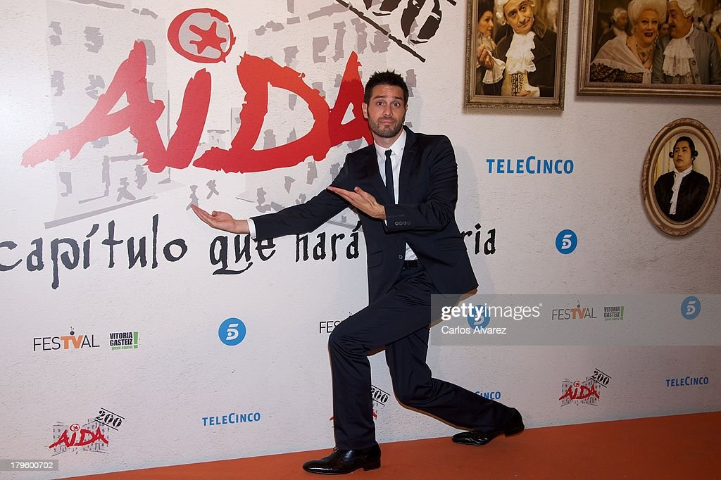 Spanish actor Dani Martinez attends the 'Aida' new season red carpet during the day four of 5th FesTVal Television Festival 2013 at the Villa Suso Palace on September 5, 2013 in Vitoria-Gasteiz, Spain.