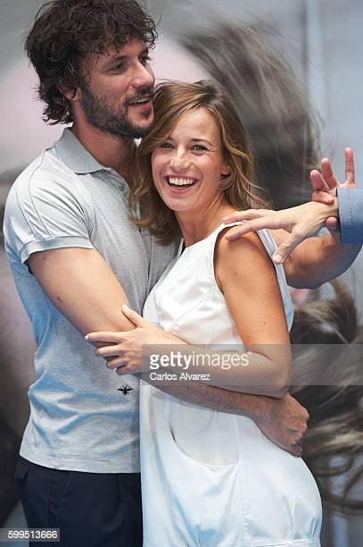 Spanish actor Daniel Grao and Spanish actress Marta Etura attend 'La Sonata del Silencio' photocall during FesTVal 2016 Day 1 Televison Festival on...