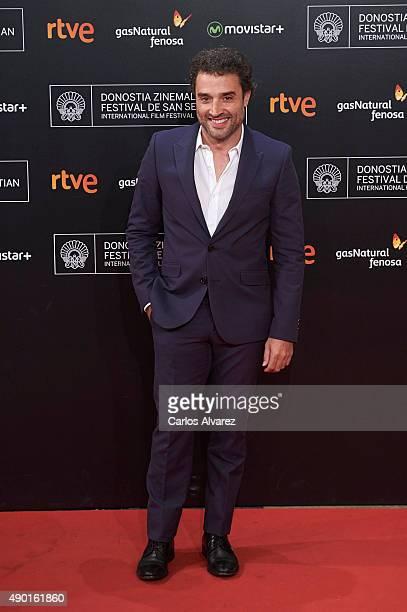 Spanish actor Daniel Guzman attends the closing ceremony red carpet of the 63rd San Sebastian International Film Festival at the Kursaal Palace on...