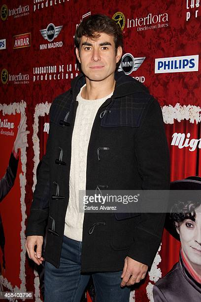 Spanish actor Daniel Muriel attends Miguel de Molina al Desnudo premiere at the Santa Isabel Theater on November 4 2014 in Madrid Spain