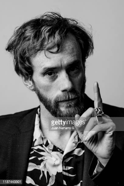 Spanish actor Daniel Perez Prada poses for a portrait session at Teatro Cervantes during 22nd Spanish Film Festival of Malaga on March 21 2019 in...