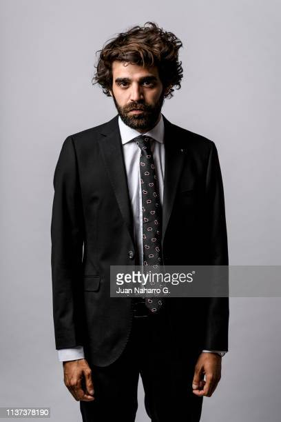 Spanish actor David Verdaguer poses for a portrait session at Teatro Cervantes during 22nd Spanish Film Festival of Malaga on March 20 2019 in Malaga...