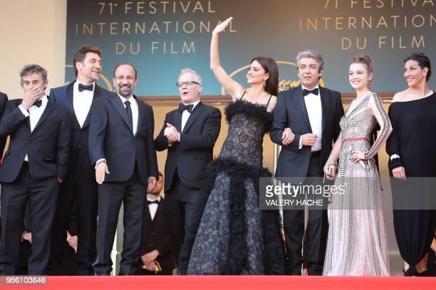 Spanish actor Eduard Fernandez Spanish actor Javier Bardem Iranian director Asghar Farhadi General Delegate of the Cannes Film Festival Thierry...