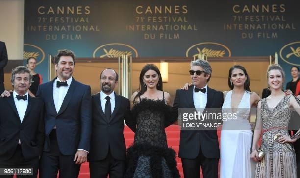 Spanish actor Eduard Fernandez Spanish actor Javier Bardem Iranian director Asghar Farhadi Spanish actress Penelope Cruz Argentinian actor Ricardo...