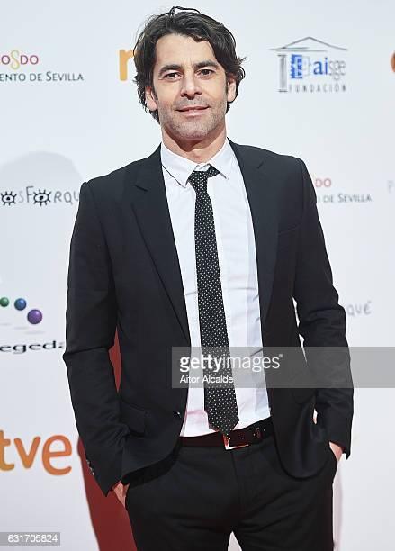 Spanish actor Eduardo Noriega attends the Jose Maria Forque Awards 2016 at Teatro de la Maestranza on January 14 2017 in Seville Spain