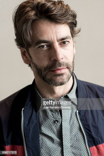 Spanish actor Eduardo Noriega poses during a portrait session during promotion of the film 'Nuestros Amantes' on May 31 2016 in Madrid Spain