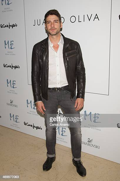 Spanish actor Felix Gomez attends Juanjo Oliva show for Elegy party at the ME Hotel on February 17 2014 in Madrid Spain