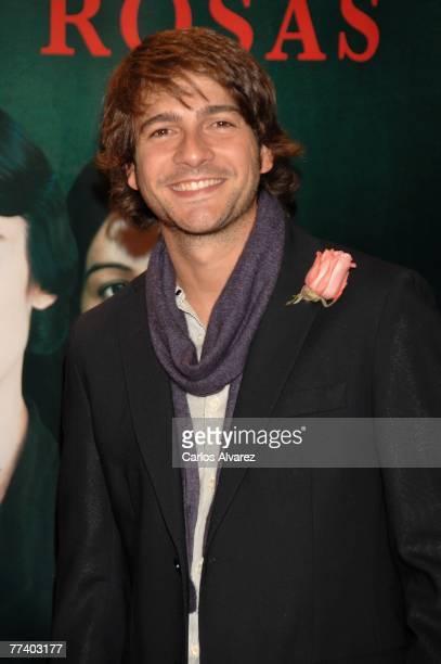Spanish actor Felix Gomez attends the premiere of 'Las 13 Rosas' on October 18 2007 at Kinepolis cinema in Madrid Spain