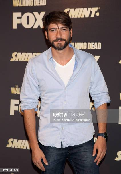 Spanish actor Felix Gomez attends 'The Walking Dead' presentation on October 13 2011 in Madrid Spain