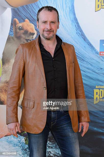 Spanish actor Fernando Cayo attends the 'Bob Esponja' Premiere at Kinepolis Cinema on January 31 2015 in Madrid Spain