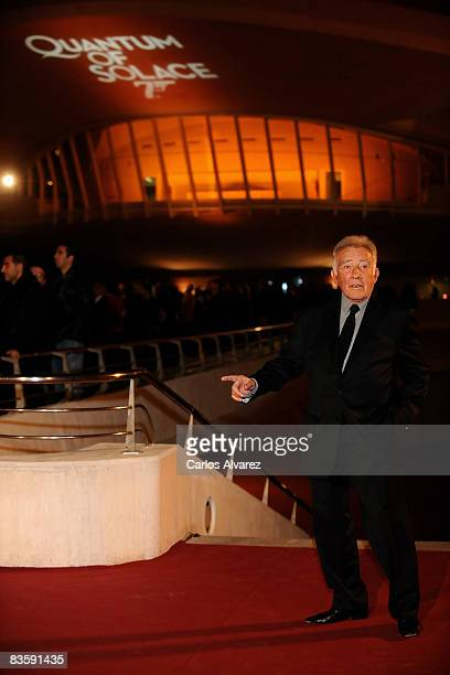 Spanish actor Fernando Guillen attends the Quantum of Solace premiere at the Palau de las Arts on November 06 2008 in Valencia Spain