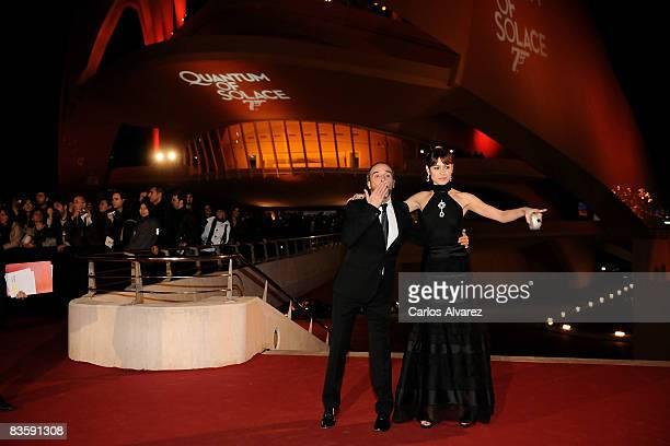 Spanish actor Fernando Guillen Cuervo and actress Olga Kurylenko attend Quantum of Solace premiere at the Palau de las Arts on November 06 2008 in...