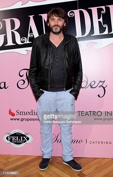 Spanish actor Fernando Tejero attends 'La Gran Depresion' premiere at Infanta Isabel Theatre on May 19 2011 in Madrid Spain