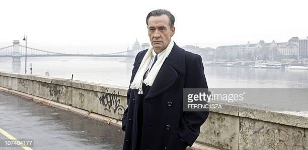 Spanish actor Francis Lorenzo plays the part of Angel Sanz Briz on the set of a joint SpanishHungarian television movie called the Angel of Budapest...