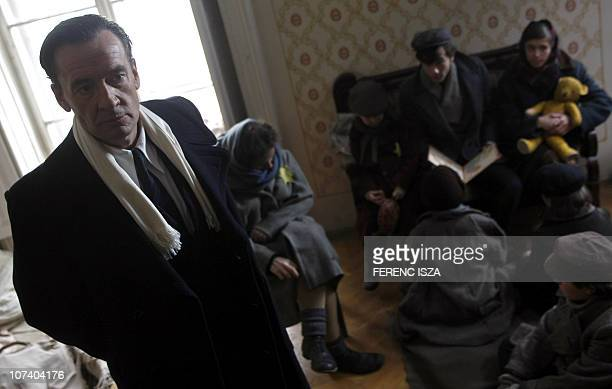 Spanish actor Francis Lorenzo who plays the part of Angel Sanz Briz stands on the set of a joint SpanishHungarian television movie called the Angel...