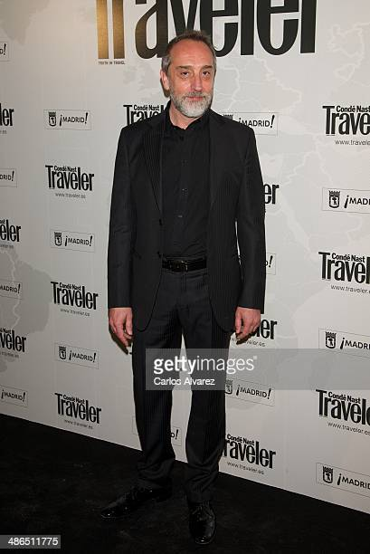 Spanish actor Gonzalo de Castro attends the Conde Nast Traveler Awards 2014 at the at Jardines de Cecilio Rodriguez on April 24 2014 in Madrid Spain