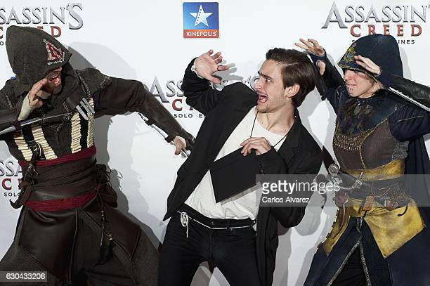 Spanish actor Guillermo Campra attends 'Assassin's Creed' premiere at Kinepolis cinema on on December 22 2016 in Madrid Spain