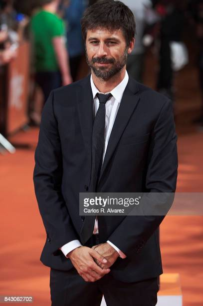 Spanish actor Hugo Silva attends 'Ministerio del Tiempo' premiere at the Principal Teather during the FesTVal 2017 on September 5 2017 in...