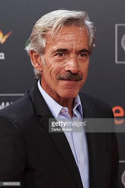 Spanish actor Imanol Arias attends the Mi Gran Noche premiere at the Kursaal Palace during 63rd San Sebastian International Film Festival on...