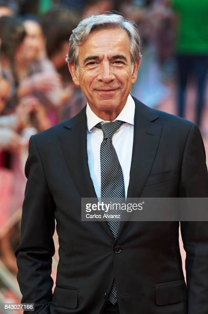 Spanish actor Imanol Arias attends 'Velvet Colecction' premiere at the Principal Teather during the FesTVal 2017 on September 5 2017 in...