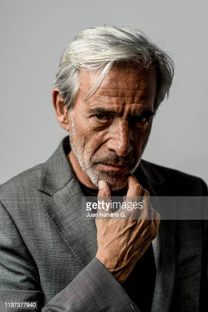 Spanish actor Imanol Arias poses for a portrait session at Teatro Cervantes during 22nd Spanish Film Festival of Malaga on March 20 2019 in Malaga...